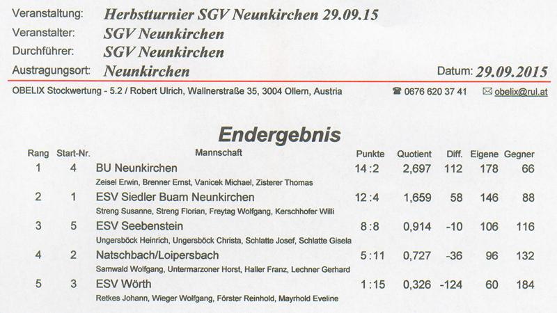Herbstturnier 1. Neunkirchhner SGV 2015 1