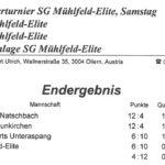 SG Mühlfeld-Elite Ergebnis 2016