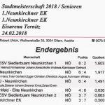 Stadtmeisterschaft Senioren Winter 2018 Ergebnis 1