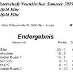 Stadtmeisterschaft allgem. Klasse Sommer 2019 Endstand 1
